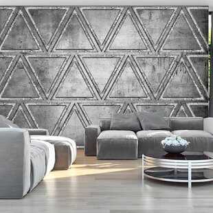 Dancing with Triangles 2.45m x 350cm Wallpaper by East Urban Home