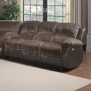 Aldreda Power Double Reclining Sofa by Andover Mills