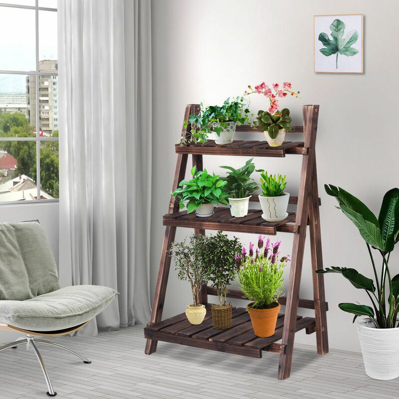 Costway 3 Tier Outdoor 37 X 24 Flower Pot Plant Stand Reviews