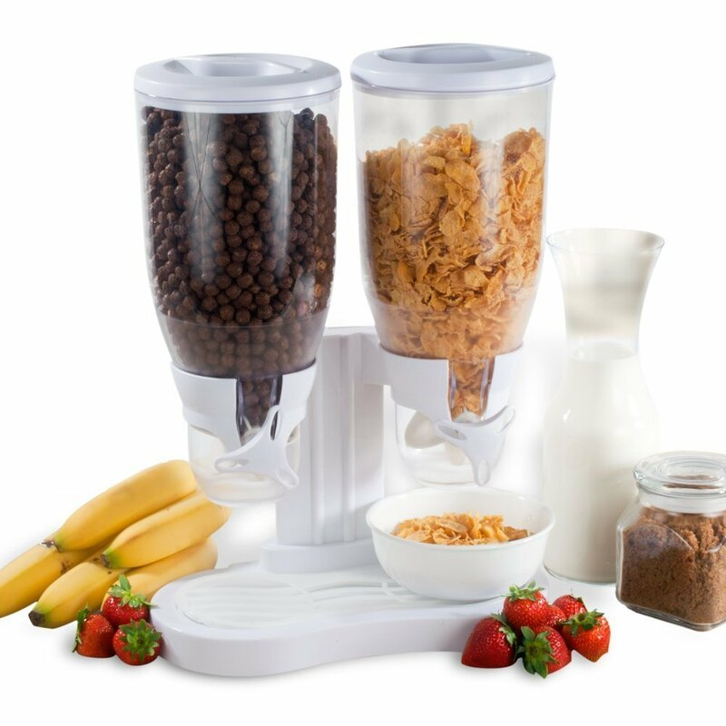 Above Edge Dry Food Double 14 Oz. Cereal Dispenser