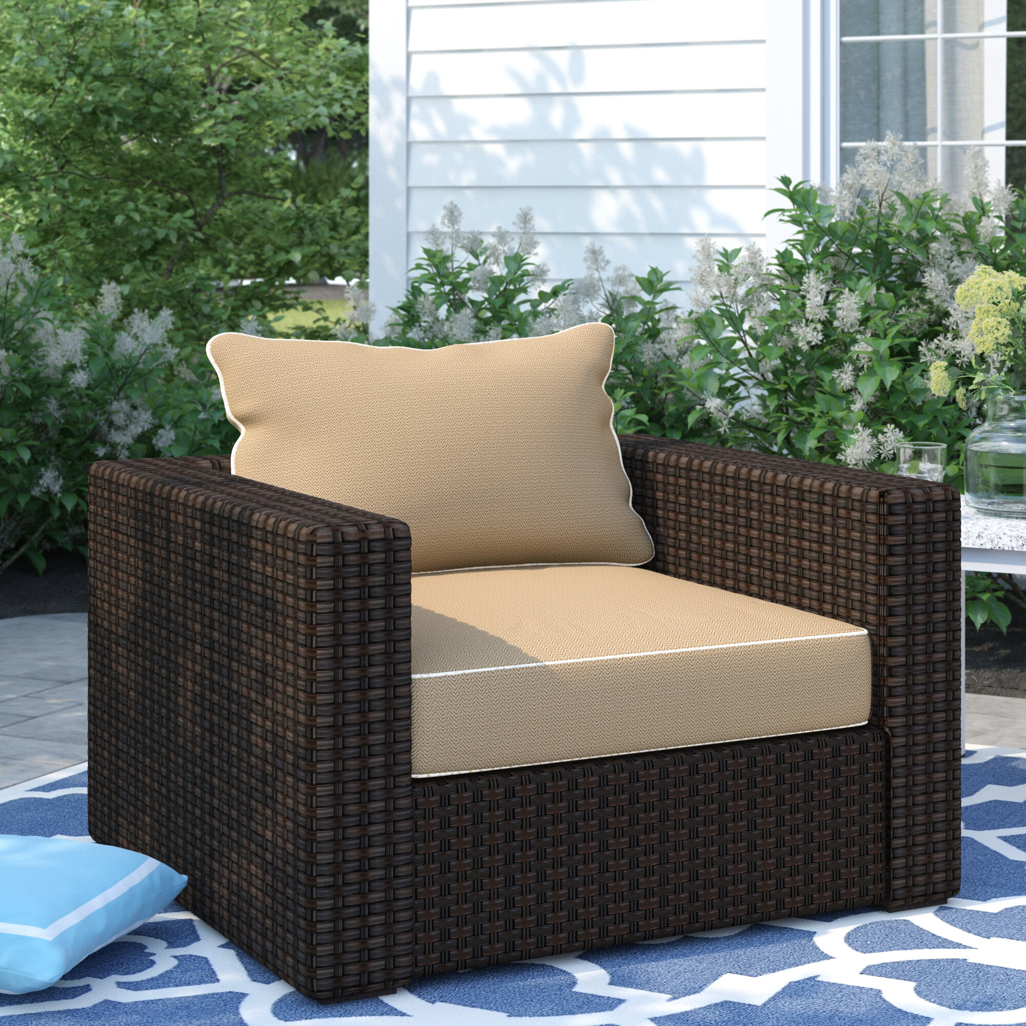 Sol 72 outdoor dante patio chair with cushions wayfair