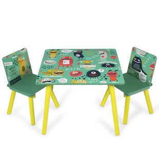 Monster Children's 3 Piece Table and Chair Set by Viv   Rae