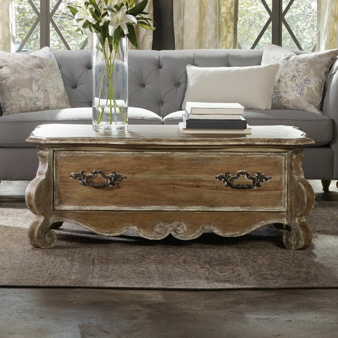 Hooker furniture chatelet coffee table with storage reviews wayfair