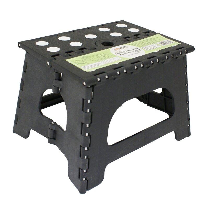 Range Kleen 1 Step Plastic Folding Step Stool With 300 Lb
