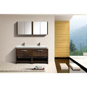 Modern Bathroom Vanities Cabinets AllModern - 58 inch bathroom vanity for bathroom decor ideas