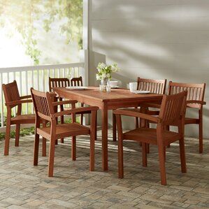 monterry traditional 7 piece patio dining set