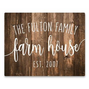 Personalized Farm House Rustic Wood Graphic Art Print On Metal
