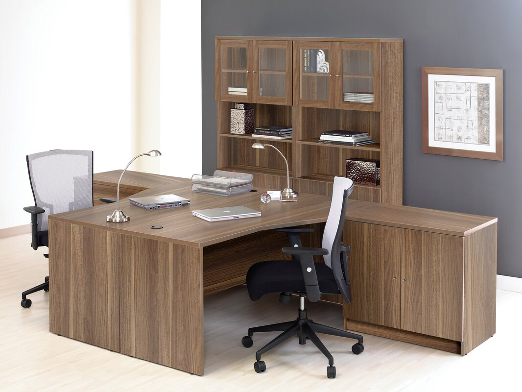 Haaken Furniture Pro X 6 Piece L-shaped Desk Office Suite ...