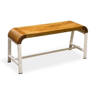 Sitzbank Retro Curves aus Holz von World Menagerie
