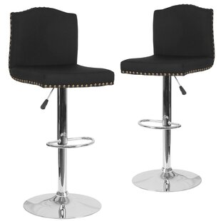 Wauseon Adjustable Height Swivel Bar Stool (Set of 2)