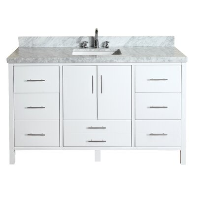 "kbc california 60"" single bathroom vanity set & reviews 