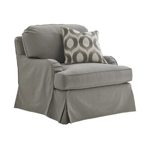 Oyster Bay Stowe Slipcover Swivel Armchair b..