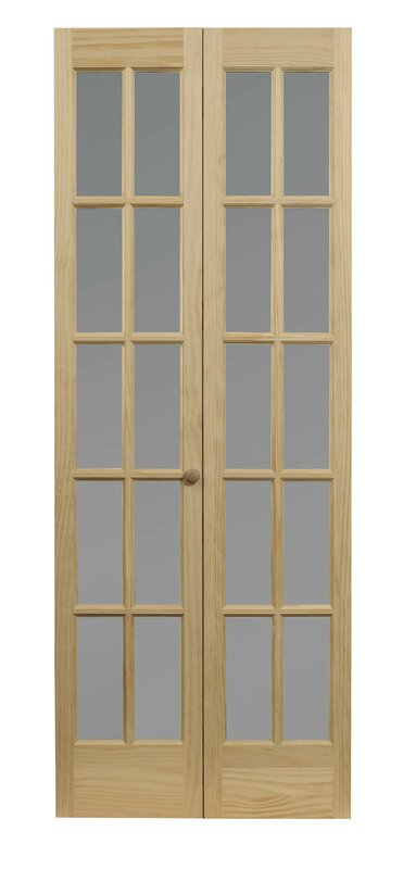 Pinecroft Wood Unfinished Bi-Fold Interior Door  sc 1 st  Wayfair & LTL Bi-Fold Doors Pinecroft Wood Unfinished Bi-Fold Interior Door ...
