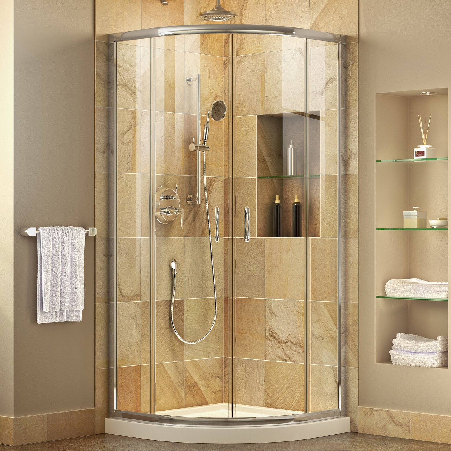 Dreamline Prime 38 X 7475 Round Sliding Shower Enclosure With
