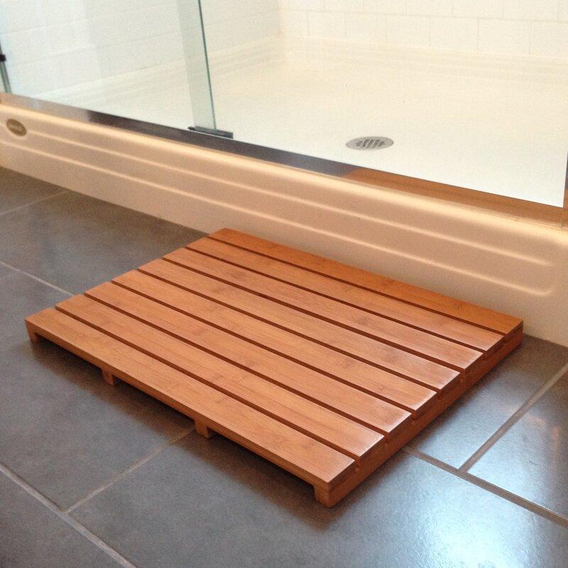 Beachcrest Home Denisse Bamboo Bathtub Mat & Reviews | Wayfair