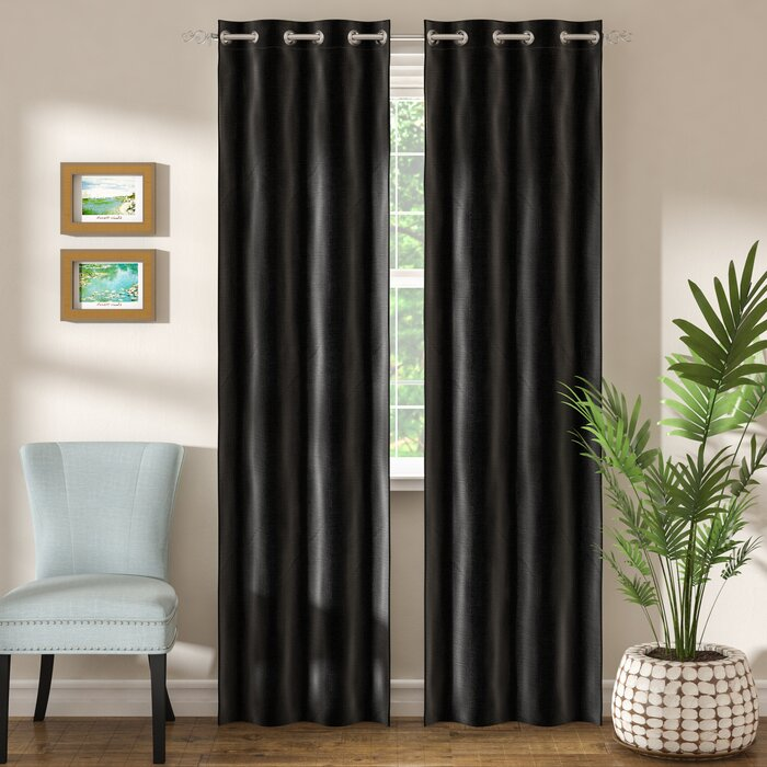 Three Posts Arends Solid Room Darkening Grommet Curtain Panels