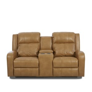 Acorn Oaks Reclining Sofa with Headrest and Lumbar Support by Red Barrel Studio