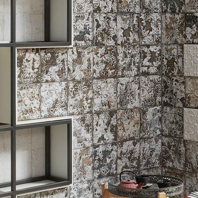 Elitetile Aevit 8 X 8 Ceramic Field Tile In Dark Ornato Reviews