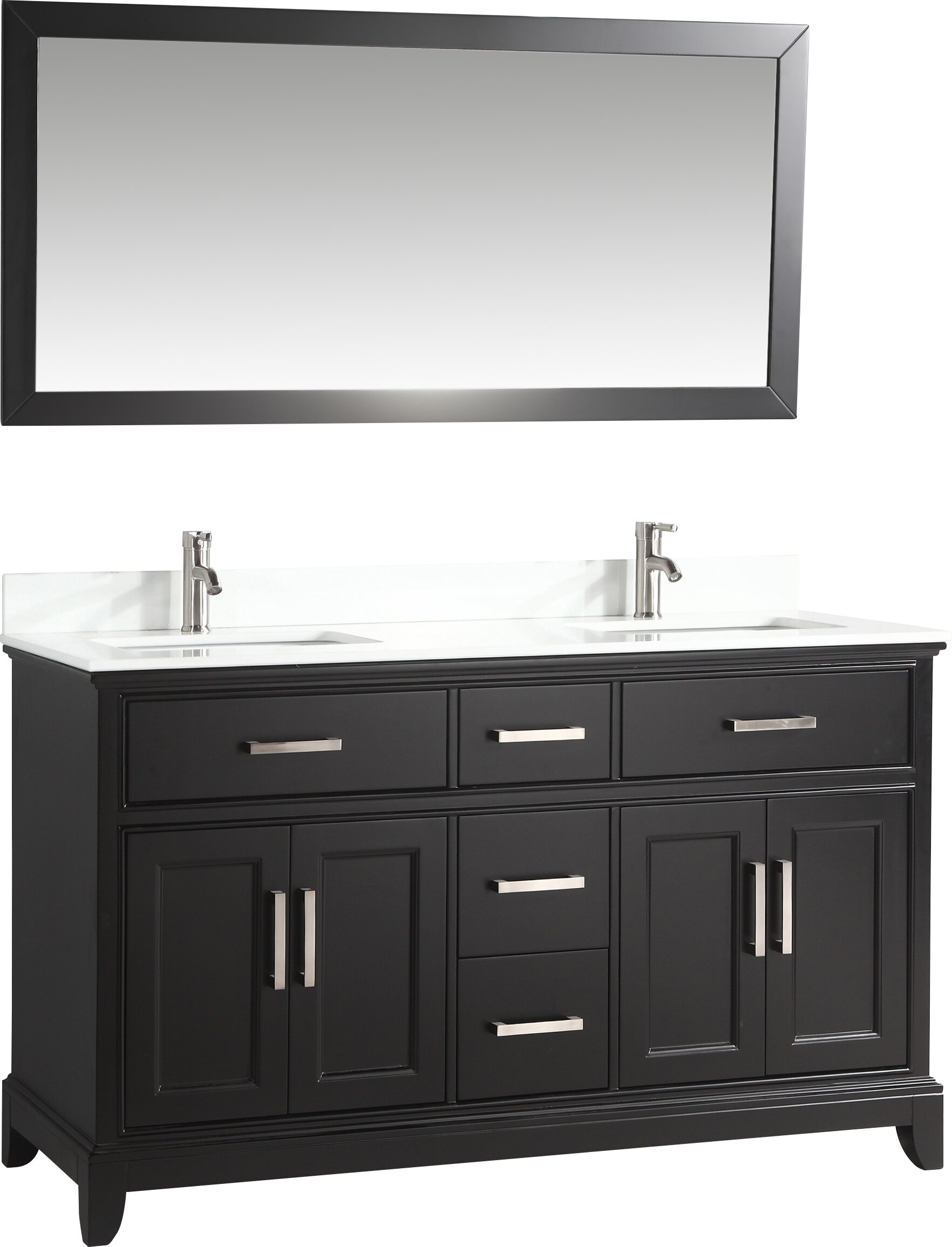 Blevens 60 Double Bathroom Vanity Set With Mirror Reviews Joss