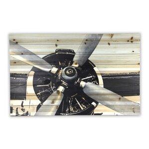 Airplane Propeller Wall Decor vintage airplane decor | wayfair