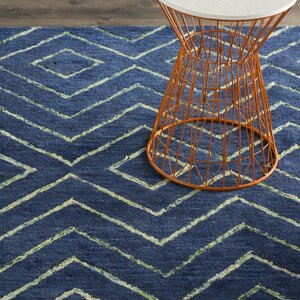 Spartacus Hand-Woven Blue Area Rug