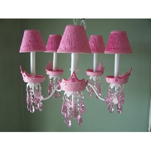 Teen girls chandelier wayfair glamour girl crowns 5 light shaded chandelier aloadofball Choice Image