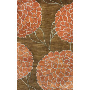 Flora Brown Area Rug