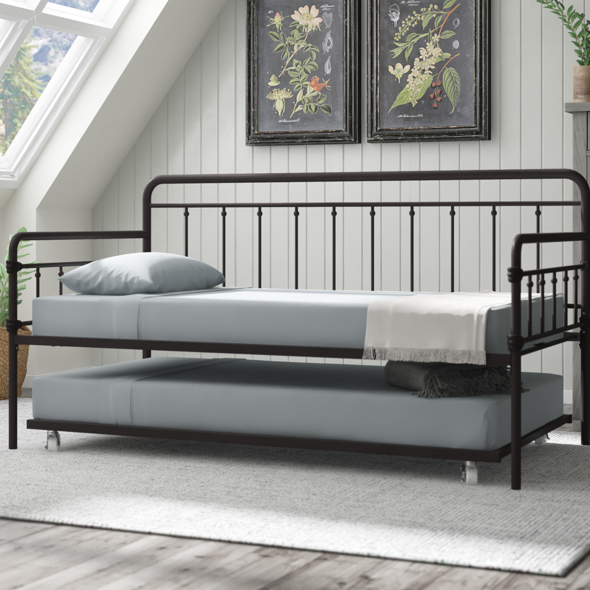 Gracie Oaks Truxton Twin Daybed With Trundle U0026 Reviews | Wayfair