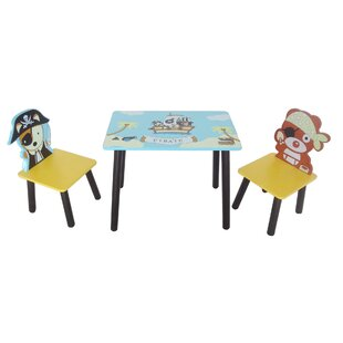 Pirate Children's 3 Piece Table and Chair Set by Kiddi Style