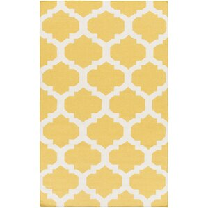 york yellow geometric harlow area rug