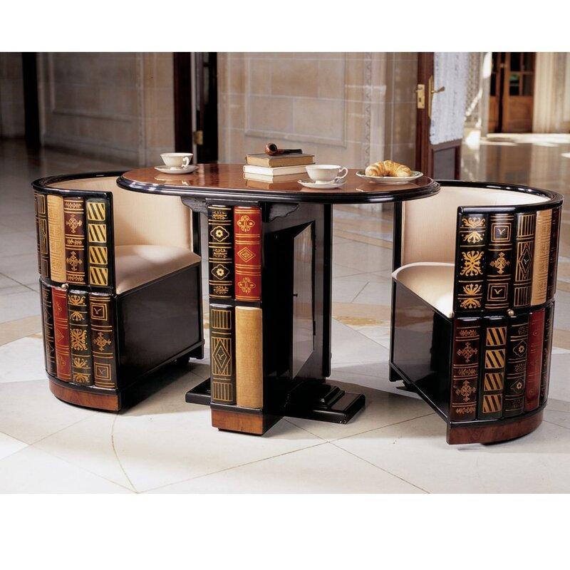 Design Toscano 3 Piece Dining Set \u0026 Reviews | Wayfair  sc 1 st  Liltigertoo.com & Best 3 Piece Dining Room Sets Gallery - Liltigertoo.com ...