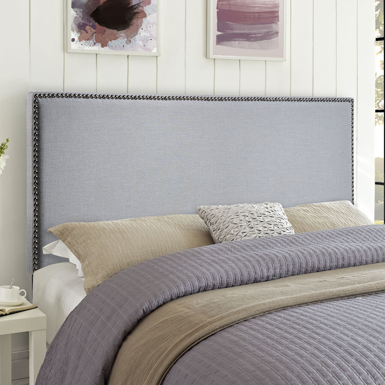 headboards upholstered white full wood cottages country cottage ideas french headboard