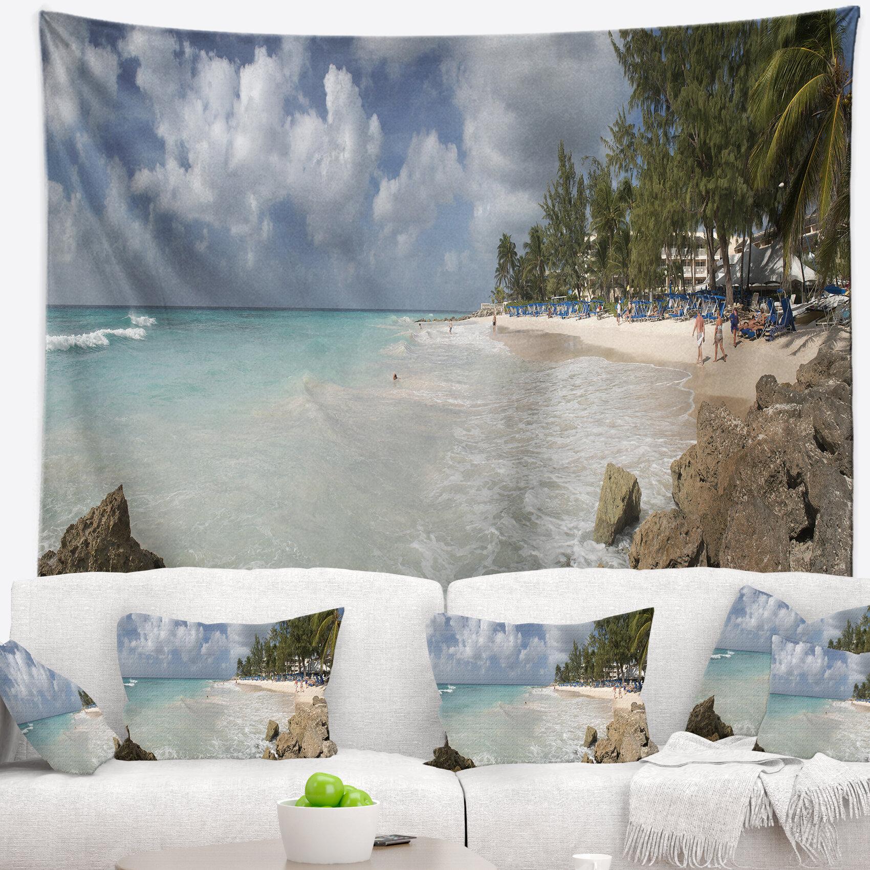 East Urban Home Seascape Barbados Island White Seashore