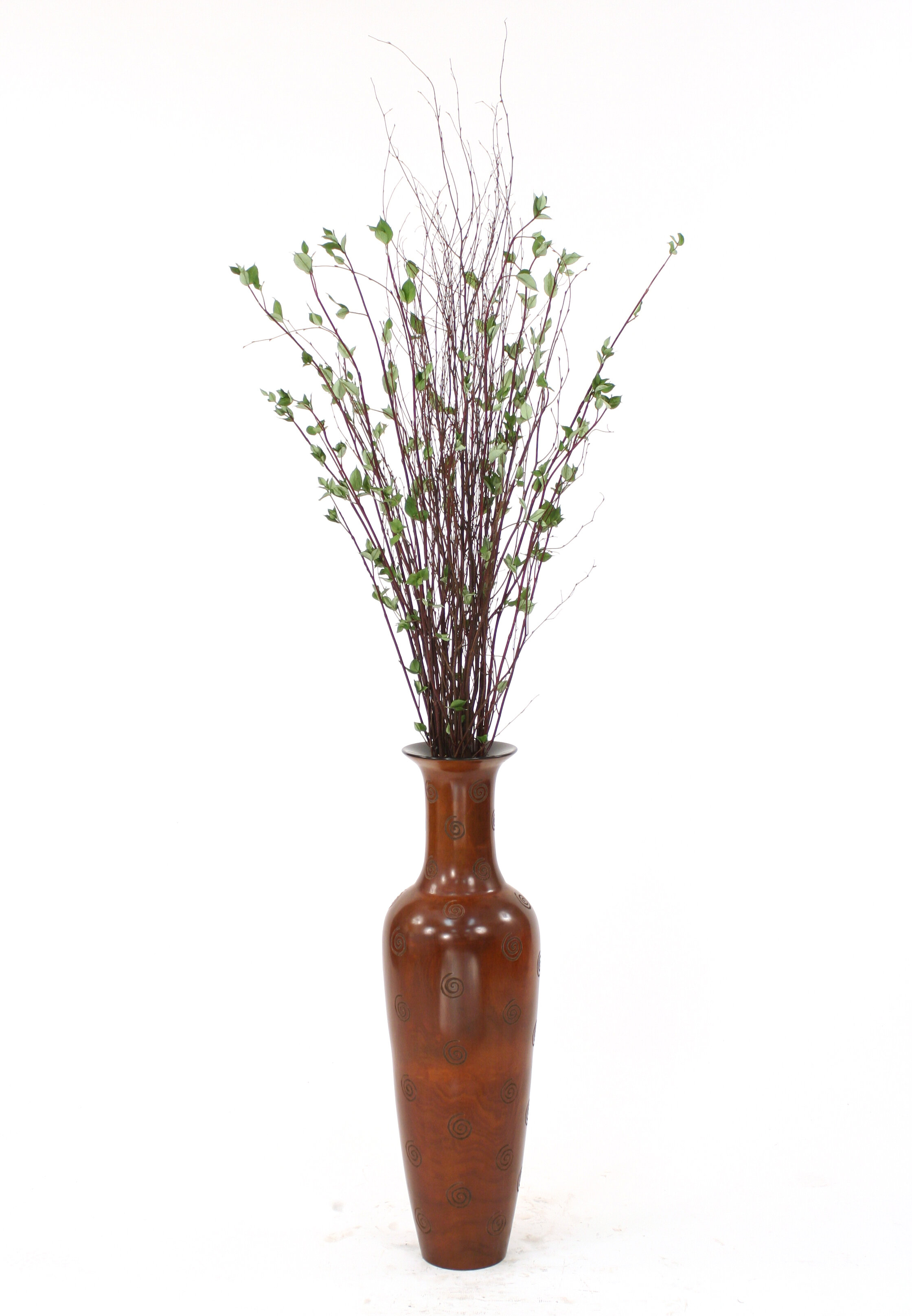 Distinctive Designs Birch Branches Drop In Floor Plant Decorative Vase Wayfair