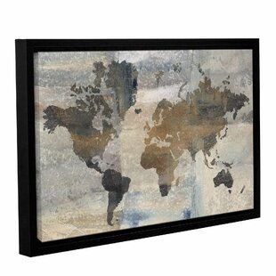Map wall art joss main stone world framed painting print gumiabroncs Choice Image