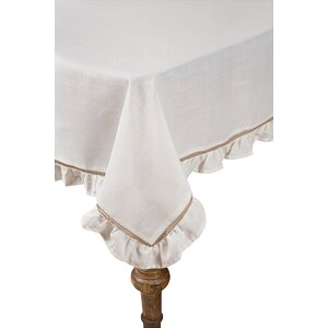 Hemstitch/Ruffle Trim Tablecloth
