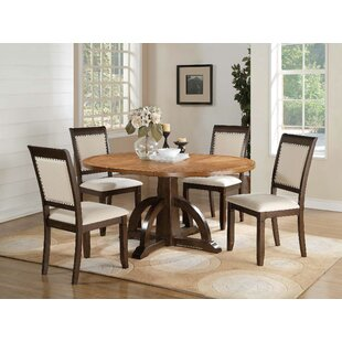 Clarkdale 5 Piece Extendable Solid Wood Dining Set