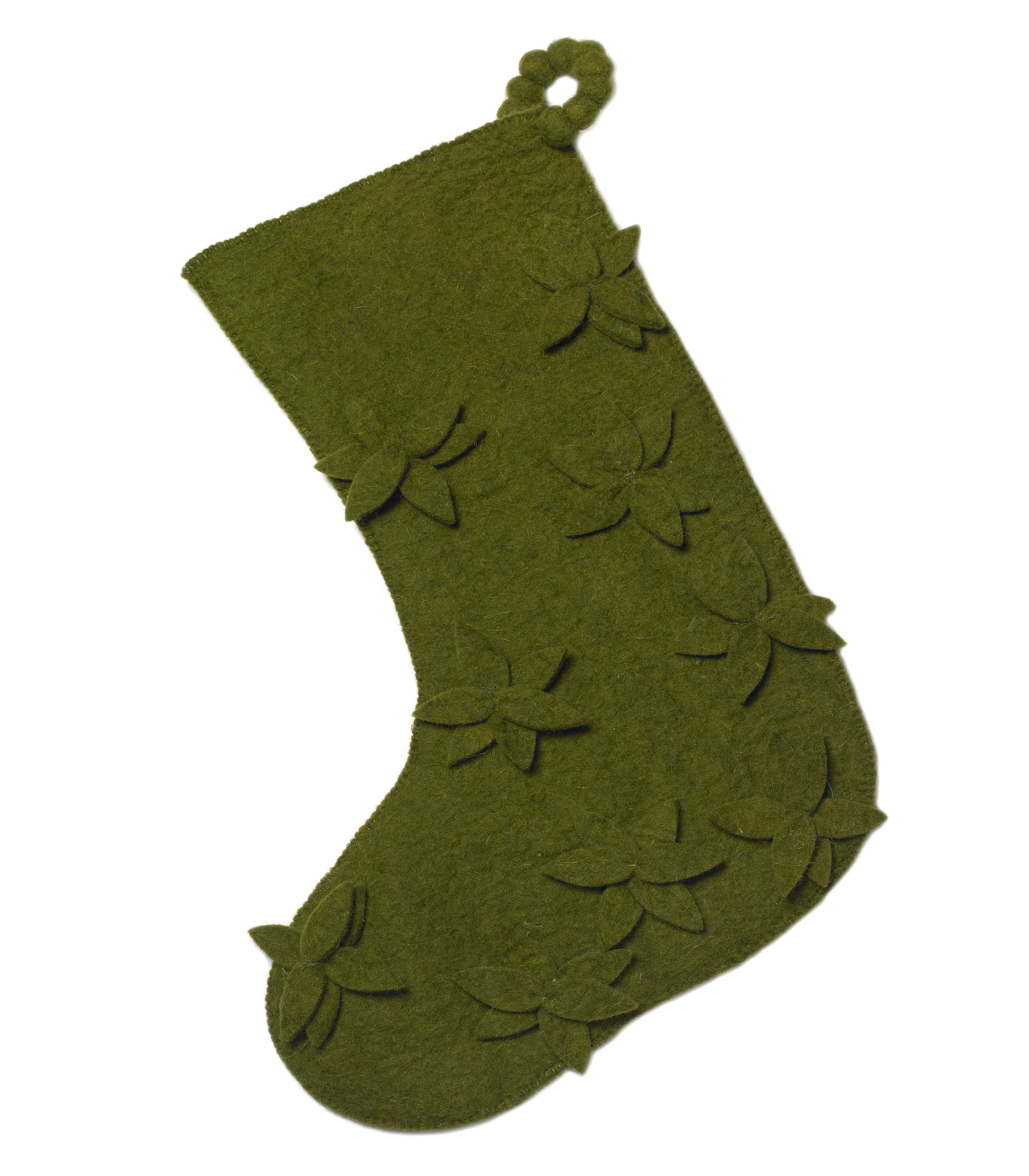 Arcadia Home Scattered Flowers Christmas Stocking