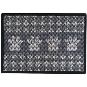 Knit Paw Border Tapestry Pet Mat