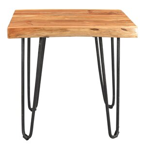 Kourtney Sustainable Live Edge Acacia End Table by Union Rustic