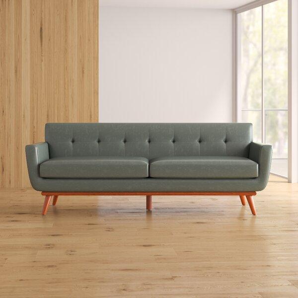 90 Inch Leather Sofas | Wayfair