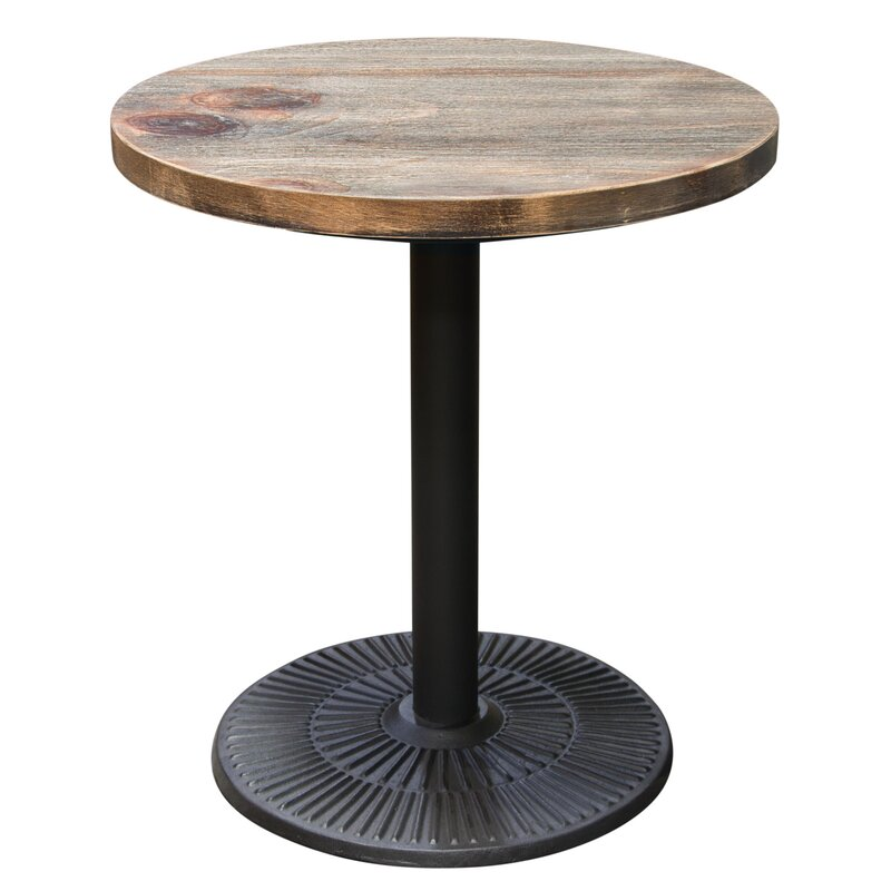 Lovely Caddys Vintage Round Wooden Bistro Table