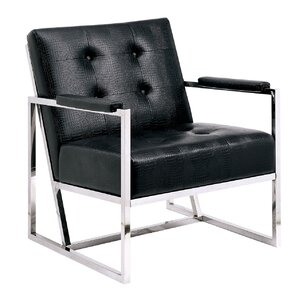 Neo Tufted Leather Armchair by A&J Homes Stu..