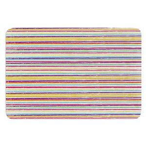 Summer Stripes by Nika Martinez Bath Mat