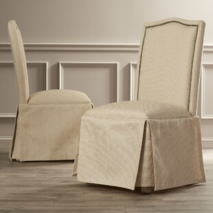 Alison Skirted Upholstered Parson Chair Set Of 2