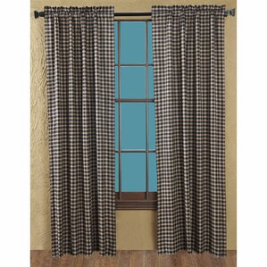 authier check curtain panels set of 2