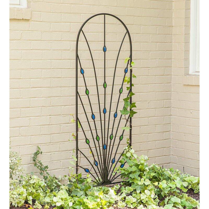 Pea Garden Metal Arched Trellis