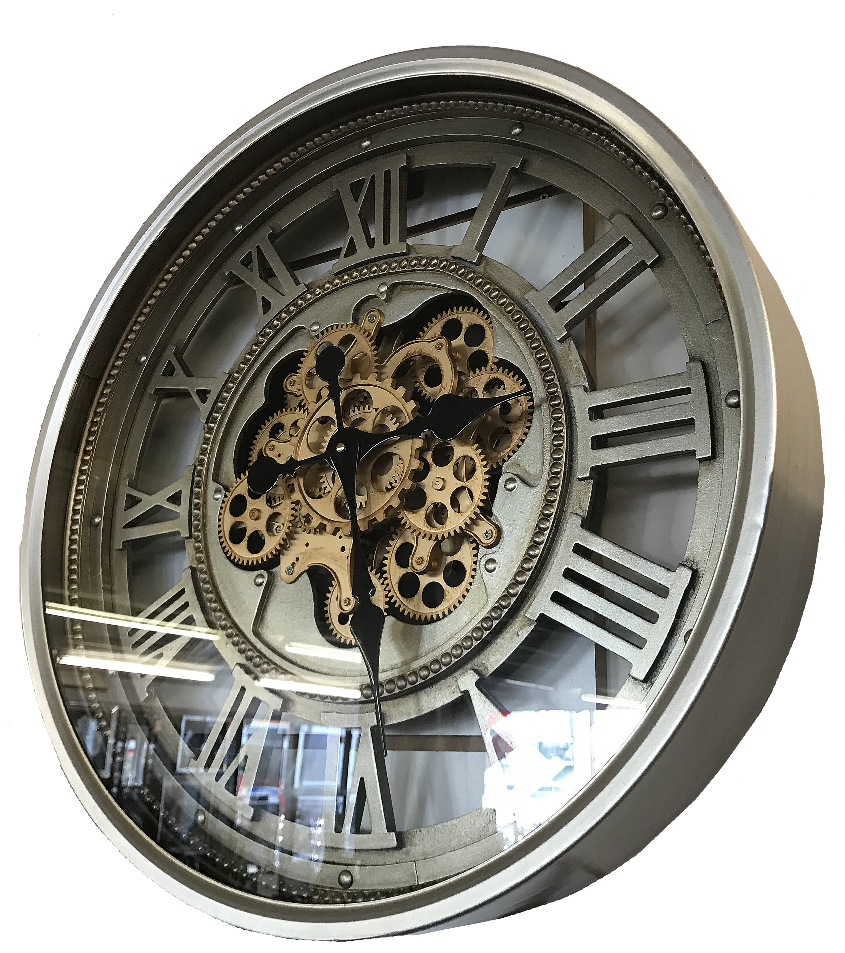 Laurel Foundry Martingale Vintage Retro Aged Mechanical Moving Gear  Skeleton 60cm Wall Clock U0026 Reviews | Wayfair.co.uk