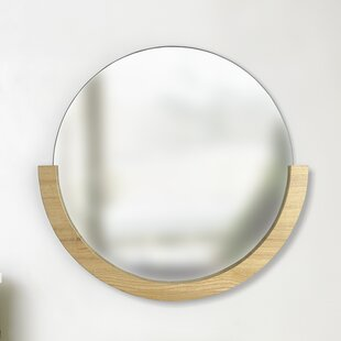 0a491885602e Round Wood Mirrors You ll Love