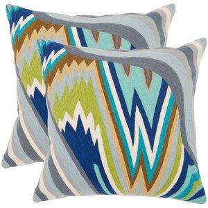 Bolt Cotton Throw Pillow (Set of 2)